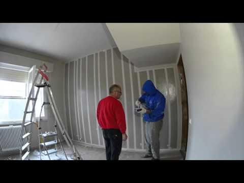 Time lapse per la realizzazione di una parete a strisce   youtube