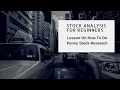 Stock Analysis For Beginners Doing Penny Stock Research - Penny Stock Lesson