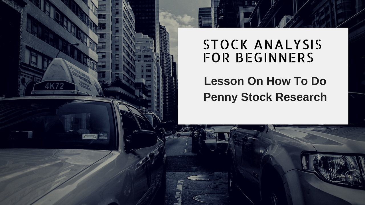how to do a stock analysis