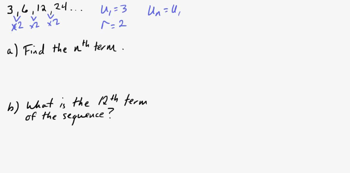 Ib Math Studies Geometric Sequences Part I  Youtube