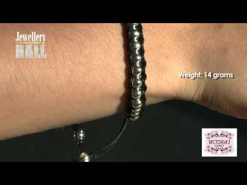 ITEM 19 925 Sterling Silver Strung Bracelet.