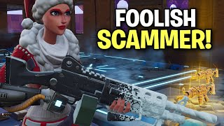 Foolish little scammer almost scams me! 😆 (Scammer Get Scammed) Fortnite Save The World