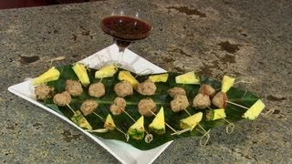 Asian Meatball Appetizer With Teriyaki Dipping Sauce By Designing Dishes
