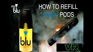 Vape Video: How to refill and rewicking myblu  pod, liquid cartridges