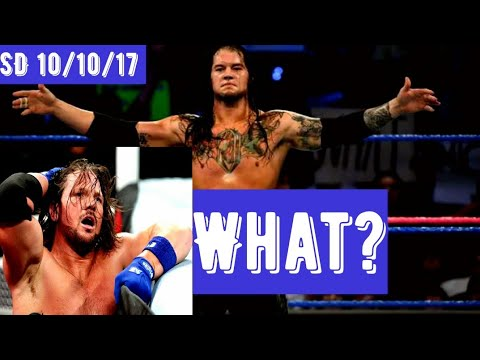 Corbin Pins AJ Styles CLEAN!!! This Makes Sense HOW?? - SmackDown 10/10/17 -