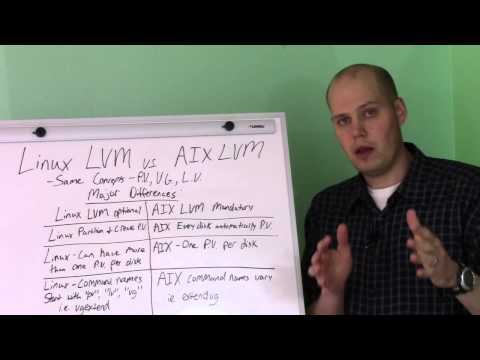 Differences between Linux LVM and AIX LVM