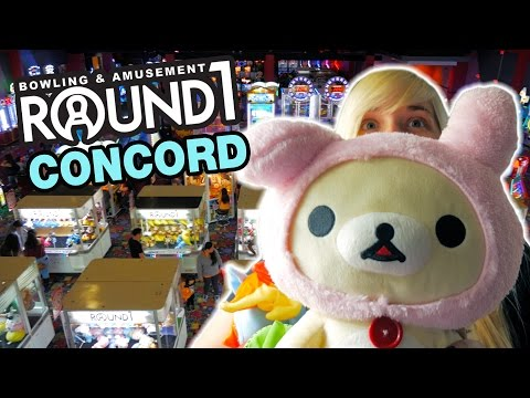Best UFO catcher trip ever! Round 1 Arcade Concord! | The Crane Couple