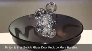 Fulton & Bray Bubble Glass Crystal Door Knob FB403CP by More Handles