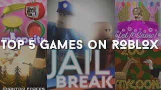 THE TOP 5 GAMES ON ROBLOX!