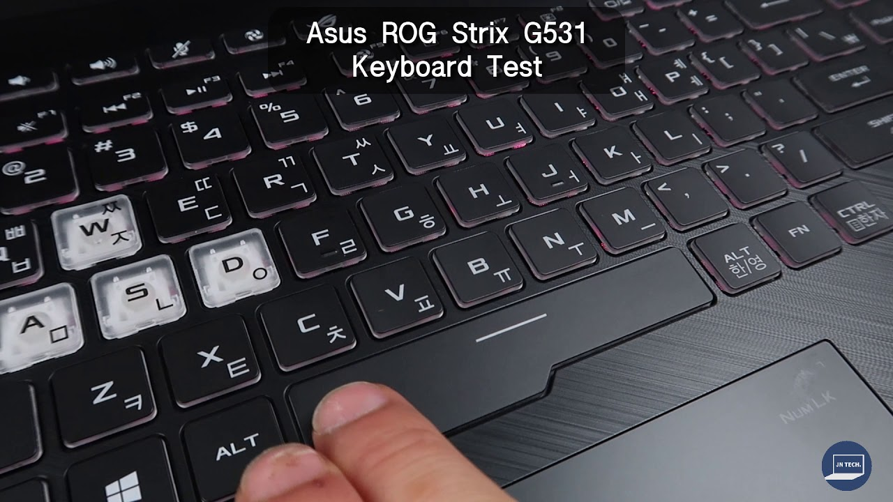 Asus Rog Strix G531 Keyboard Test Youtube