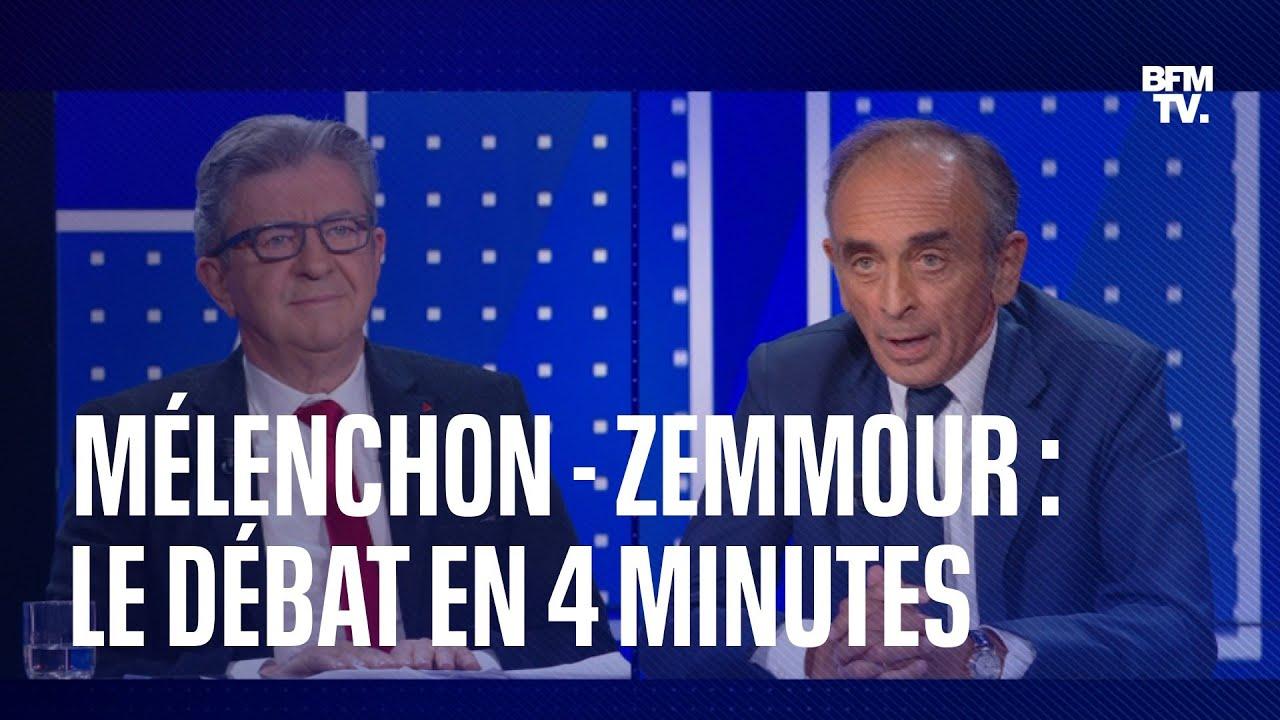 Download Mélenchon - Zemmour: les moments forts du débat sur BFMTV en 4 minutes