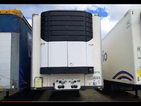 Установка холодильного агрегата Carrier MAXIMA 1300 на полуприцеп рефрижератор Krone SDR 27