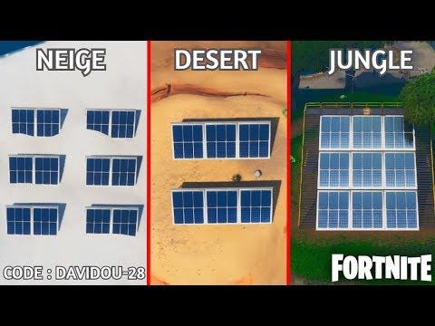 visiter-un-champ-de-panneau-solaire-dans-la-neige,-le-desert-et-la-jungle-sur-fortnite-!