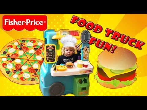 PRETEND PLAY FOOD TRUCK || fisher price servin up || cooking for kids