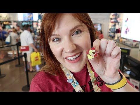 Our First Time Disney Pin Trading! | Pin Trading In Disney Springs 2018