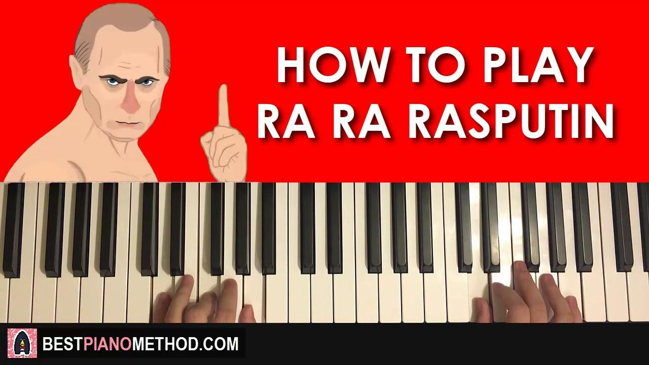 HOW TO PLAY - RA RA RASPUTIN (Piano Tutorial STEP BY STEP ...