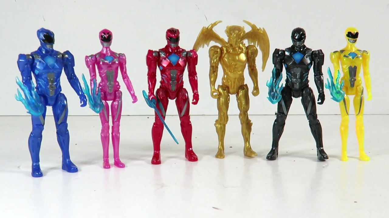 c055afc17db Power Rangers Movie Target exclusive 5 pack with Goldar action figure review