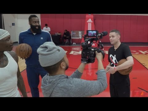 The Professor Teaches James Harden a Signature Move 'The Teleport'