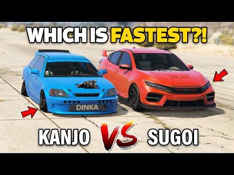 GTA V Online: BLISTA KANJO VS SUGOI (WHICH IS FASTEST?)