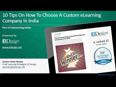 How To Choose Custom ELearning Companies In India - EI Design