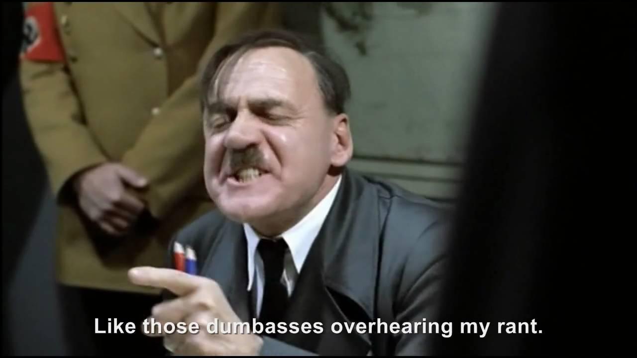 Hitler's crazy rant