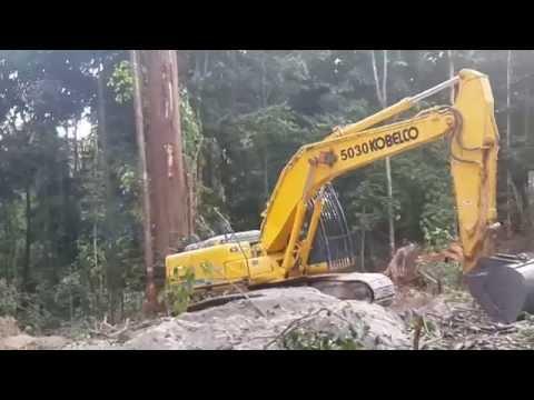 excavator bushing in guyana ( badger mining , issano guyana )