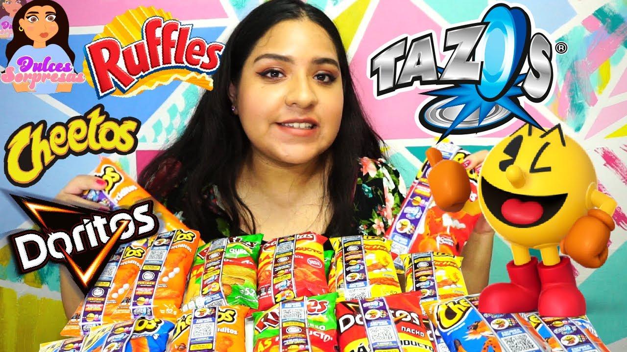 Nuevos Tazos de PAC-MAN En Papas Sabritas / Doritos Cheetos Ruffles