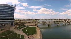 Drone Flight Over Tempe Town Lake And Mill Ave Bridges