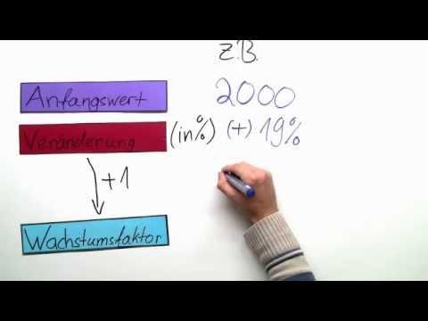 prozentrechnung wie berechnet man den endwert mathematik arithmetik rechnen youtube. Black Bedroom Furniture Sets. Home Design Ideas