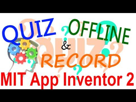 MIT App Inventor 2 ITA# Tutorial 92 Quiz OFFLINE & RECORD