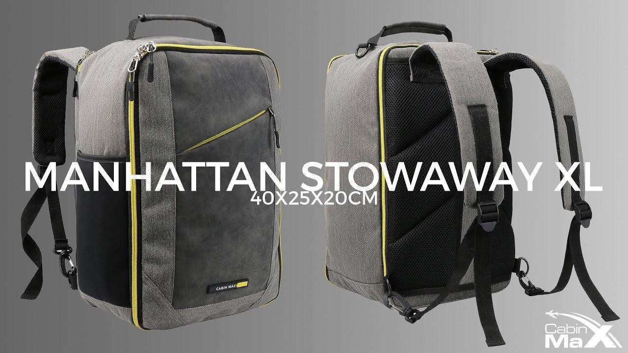 Cabin Max Manhattan XL Stowaway 40x25x20cm Ryanair small bag size