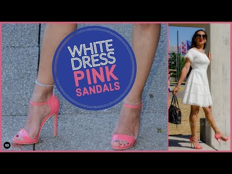 crossdresser---white-summer-dress-and-pink-stiletto-heeled-sandals- -natcrys