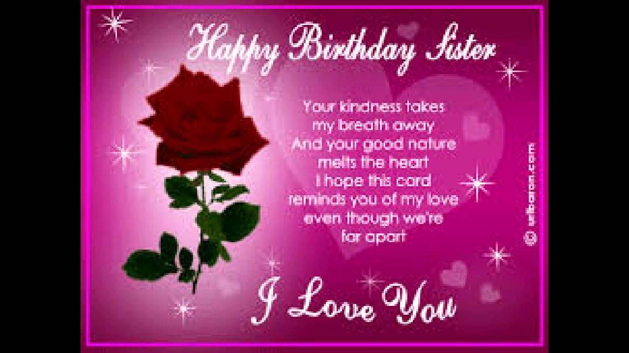 Happy Birthday To Umy Sweet Sister Youtube