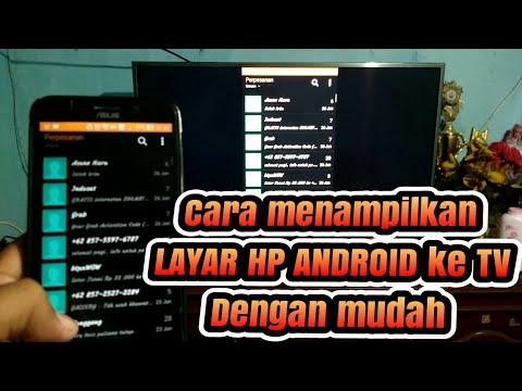 Cara menampilkan Layar hp android ke tv dengan mudah