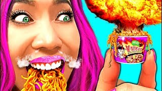 WOW! DIY Miniature Samyang Mala Spicy Noodles 4X!!! (CC Available)