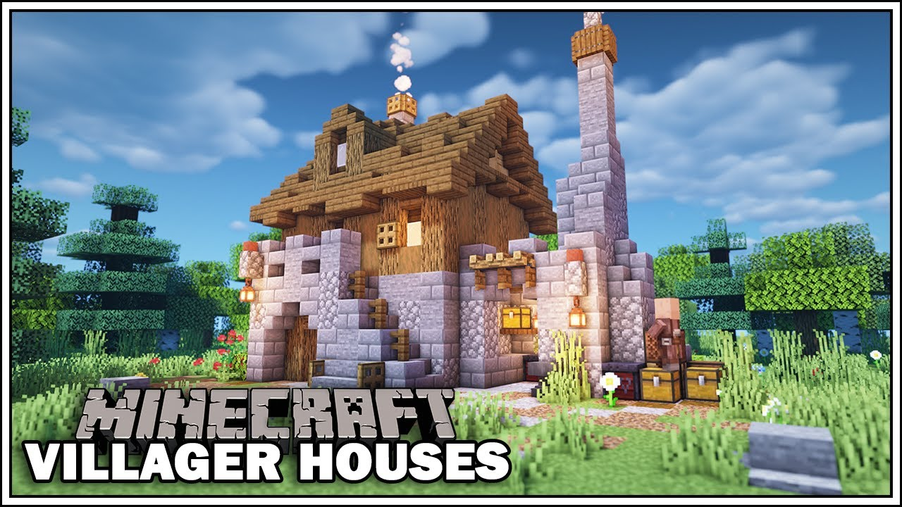 Minecraft Villager Houses - THE TOOLSMITH - [Minecraft Tutorial] WORLD  DOWNLOAD!!!