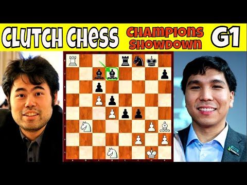 GAME 1 || GM Hikaru Nakamura vs. GM Wesley So || Clutch Chess Champions Showdown || # 279