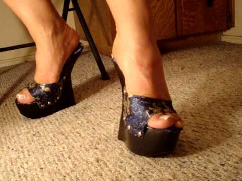 Dragon Print Wooden High Heel Wedges Youtube