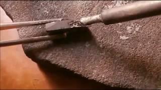 пайка магнита феррита