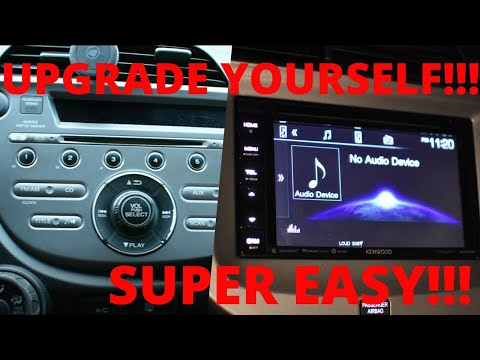 Installing An Aftermarket Stereo With Bluetooth / Kenwood DDX26BT/ Honda Fit / Double Din