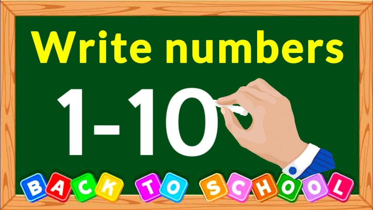 How to Write Numbers 1-10 | write numbers 1-10 | How to Write Numbers 1234 | Kids Learning Numbers