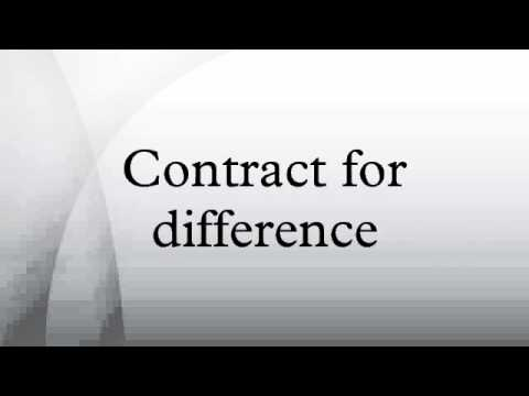 Finance contract for difference