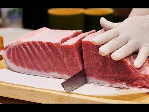 [4K]200KG 생참치 회뜨기 2탄 2부_오우가시 참치 해체_Giant Tuna Cutting Show Ep2 Part 2_Japanese Food