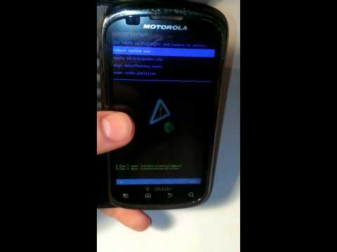 Hard reset for Motorola Cliq 2 MB611