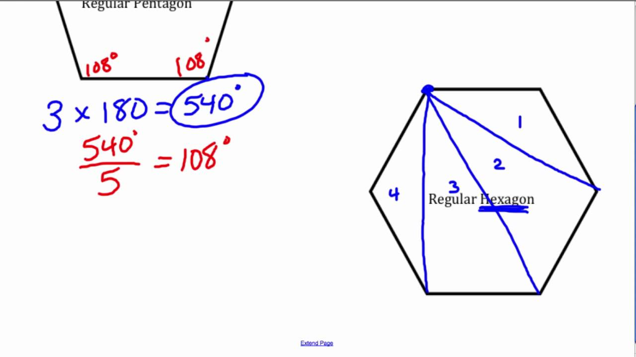 How To Find The Interior Angle Of A Regular Polygon