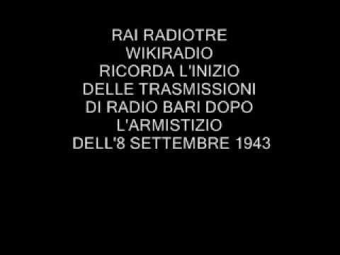 RAI RADIOTRE RICORDA L'INIZIO DELLE TRASMISSIONI DI RADIO BARI L'11-9-1943