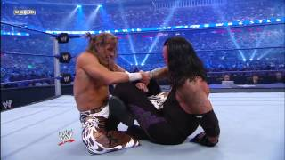Shawn Michaels uses a modified Figure Four to weaken The Undertaker: 25th Anniversary of WrestleMani