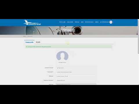 Video Tutorial - How to create a Private Jet Operator account at JetCrew | Step 2