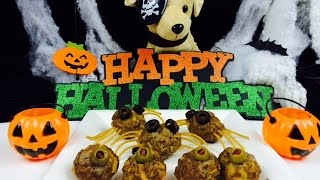 How To Make Halloween Dog Meatball Spooky Spiders - Diy Dog Food By Cooking For Dogs