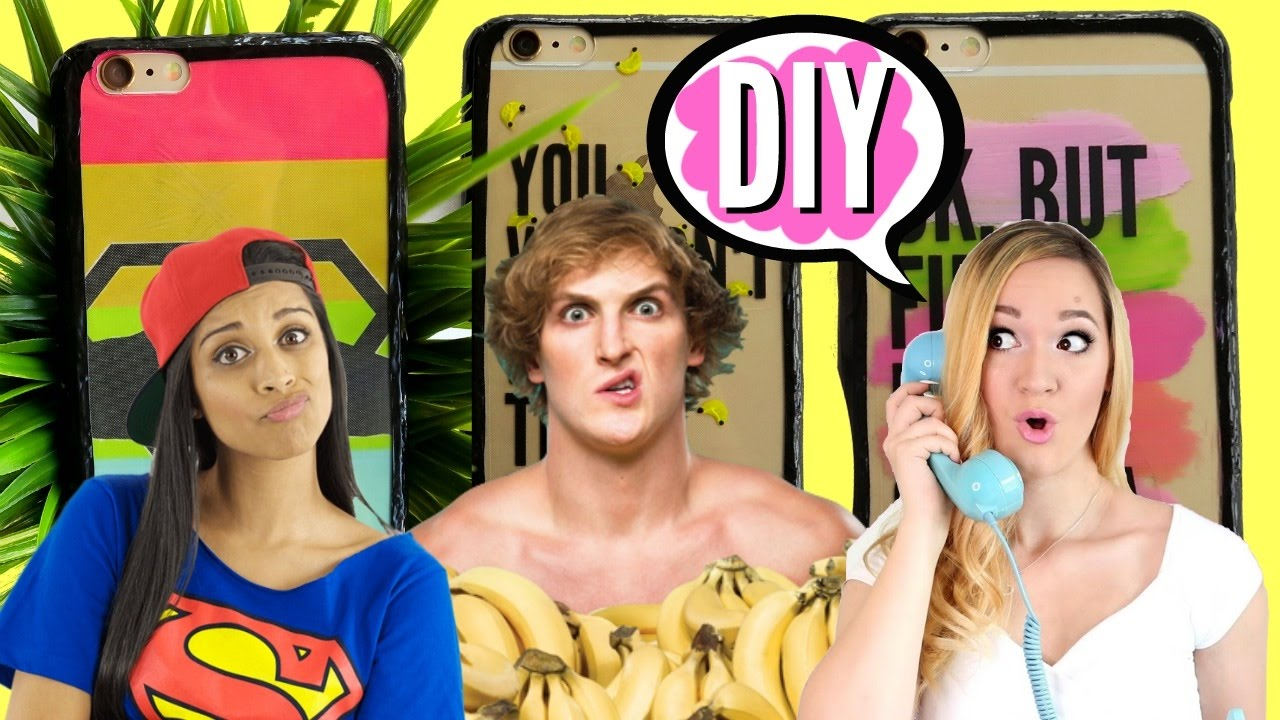 quality design 3c615 256c8 DIY Youtuber inspired Phone Cases Lilly Singh, Logan Paul, Alisha Marie |  pastella 28